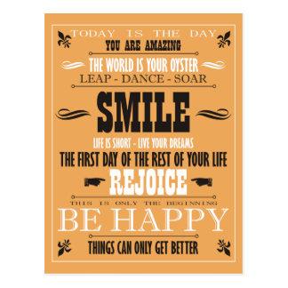 Affiche vintage de sourire carte postale