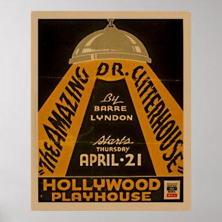 Affiche vintage de théâtre de WPA de maison de Posters