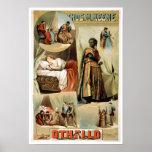 Affiche vintage de théâtre d'Othello