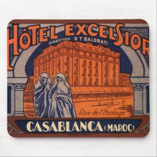 Affiche vintage de voyage, Casablanca, Maroc, Tapis De Souris