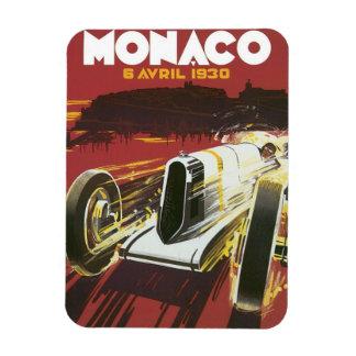 Affiche vintage de voyage, course automatique du magnets rectangulaire