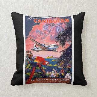 Affiche vintage de voyage coussin