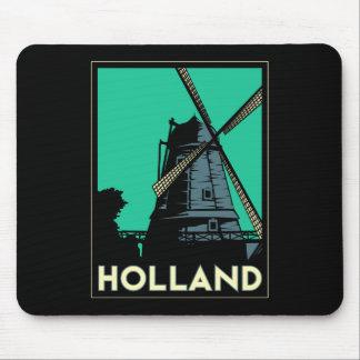 affiche vintage de voyage d art déco de la Holland Tapis De Souris