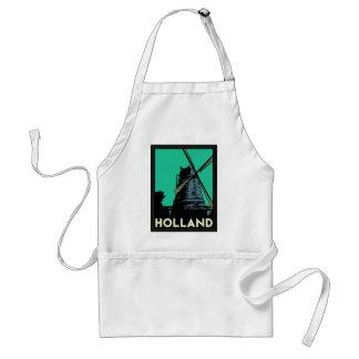 affiche vintage de voyage d'art déco de la Holland Tablier
