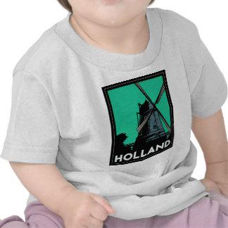 affiche vintage de voyage d'art déco de la Holland T-shirts