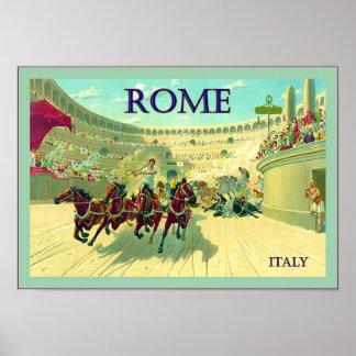 Affiche vintage de voyage de ~ de l'Italie de ~ de