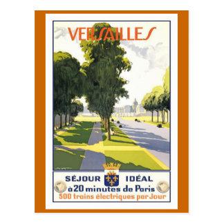 Affiche vintage de voyage de Français de Carte Postale