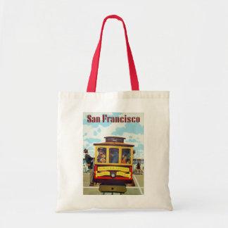 Affiche vintage de voyage de funiculaire de San Sac Fourre-tout