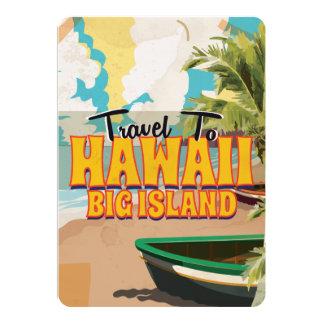 Affiche vintage de voyage de grand mariage d'île carton d'invitation  12,7 cm x 17,78 cm