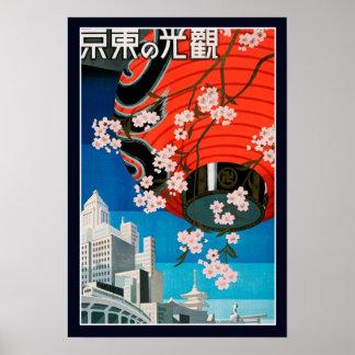 Affiche vintage de voyage de Japonais de 2ÈME Posters