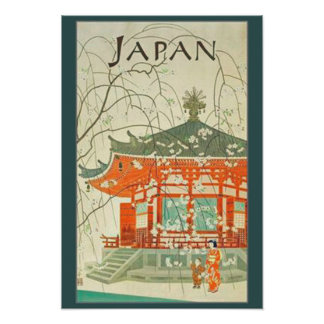 Affiche vintage de voyage de Japonais Posters