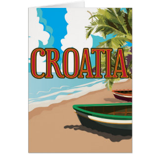 Affiche vintage de voyage de la CROATIE Carte De Vœux