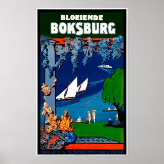 Affiche vintage de voyage de l'Afrique du Sud Poster