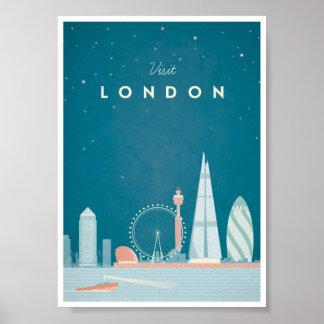 Affiche vintage de voyage de Londres Posters