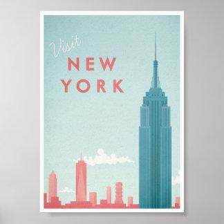 Affiche vintage de voyage de New York