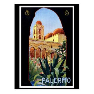 """Affiche vintage de voyage de """"Palerme"""" Carte Postale"""