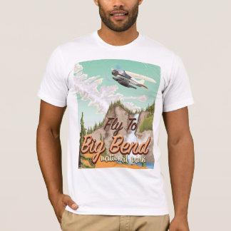 Affiche vintage de voyage de parc national de t-shirt