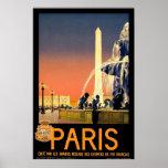 """Affiche vintage de voyage de """"Paris"""""""