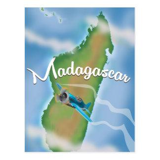 Affiche vintage de voyage de paysage du Madagascar Cartes Postales