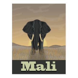 Affiche vintage de voyage de paysage du Mali Cartes Postales