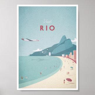 Affiche vintage de voyage de Rio
