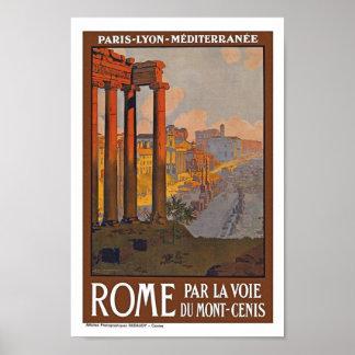 Affiche vintage de voyage de Rome Italie l'Europe