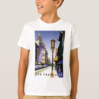 Affiche vintage de voyage de San Francisco T-shirt