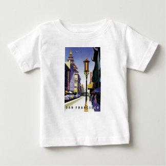 Affiche vintage de voyage de San Francisco T-shirt Pour Bébé