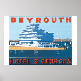 Affiche vintage de voyage de St Georges de