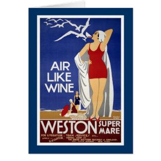 Affiche vintage de voyage de Weston-Superbe-Jument Cartes