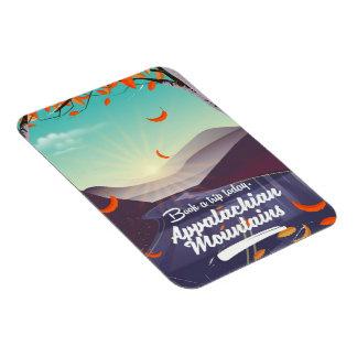 Affiche vintage de voyage des Appalaches Magnet Flexible