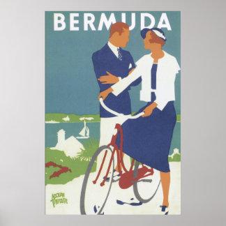 Affiche vintage de voyage des Bermudes Posters
