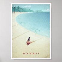 Affiche vintage de voyage d'Hawaï Posters