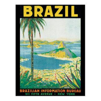 Affiche vintage de voyage du Brésil Carte Postale