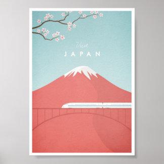 Affiche vintage de voyage du Japon Poster