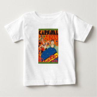 Affiche vintage de voyage du monde du carnaval t-shirt pour bébé