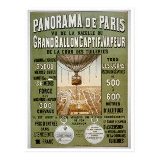 Affiche vintage de voyage du panorama De Paris Cartes Postales