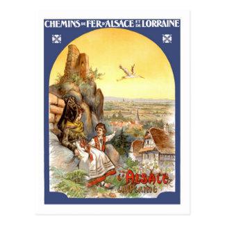 Affiche vintage de voyage, France Carte Postale