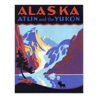 Affiche vintage de voyage, invitation du Yukon,