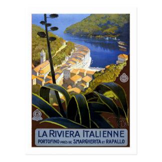Affiche vintage de voyage, Italien la Riviera Cartes Postales