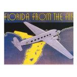 Affiche vintage de voyage, la Floride de l'avion d Cartes Postales