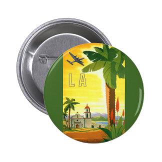 Affiche vintage de voyage, Los Angeles, la Pin's