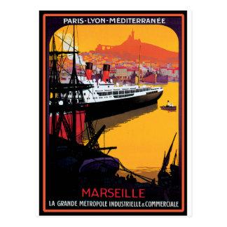 Affiche vintage de voyage : Méditerranéen Cartes Postales
