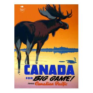 Affiche vintage de voyage pour la carte postale du
