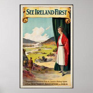 Affiche vintage de voyage pour l'Irlande Poster