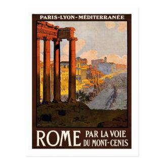 Affiche vintage de voyage, Rome Carte Postale
