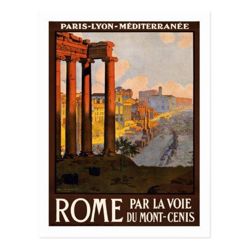 Affiche vintage de voyage, Rome Cartes Postales