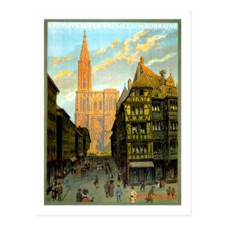 Affiche vintage de voyage, Strasbourg Carte Postale