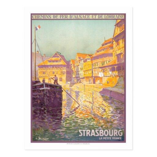 Affiche vintage de voyage, Strasbourg Cartes Postales