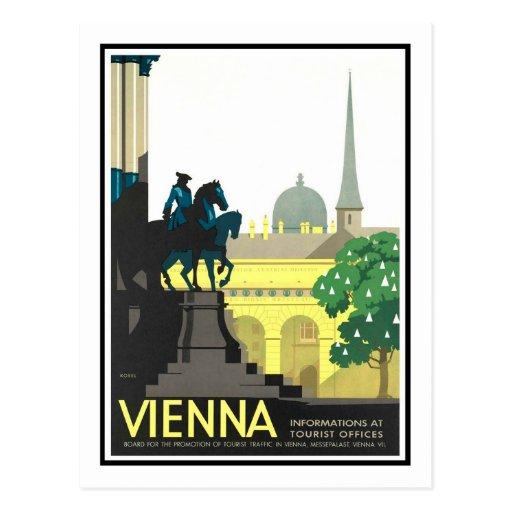 Affiche vintage de voyage, Vienne Carte Postale